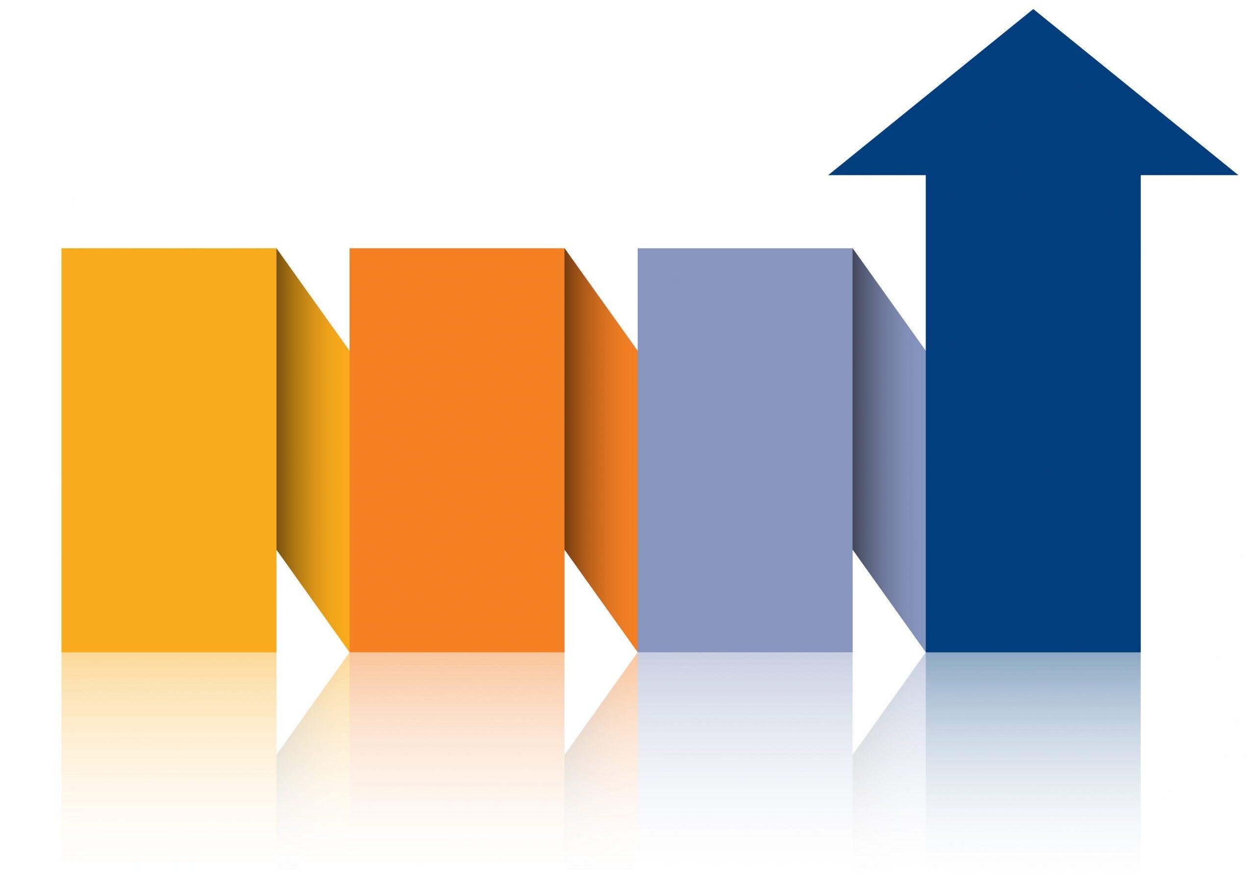 MLS - Arrow zigzag graphic Orange & Blue-1091234122